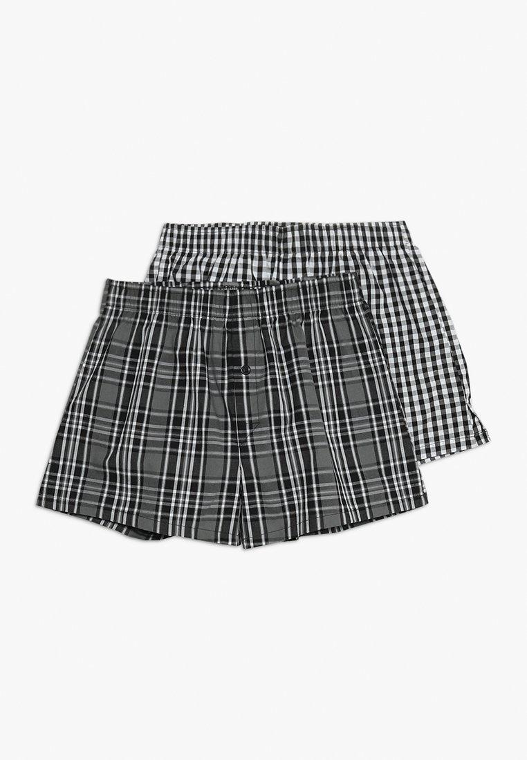 Schiesser - 2 PACK - Boxer shorts - black
