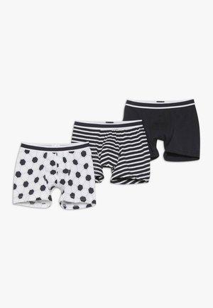 KIDS SHORTS 3 PACK - Pants - white/black