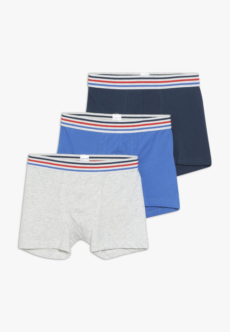Schiesser - TEENS 3 PACK - Culotte - grey/dark blue/royal blue