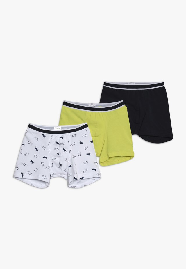 SHORTS 3 PACK - Underkläder - dark blue/yellow/white