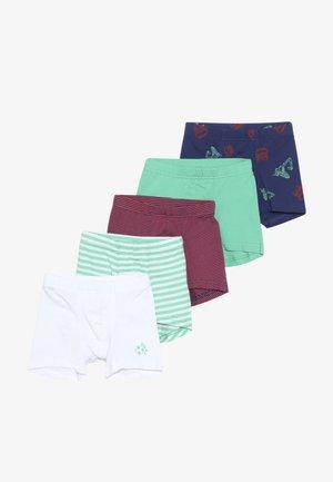 5 PACK - Pants - dark blue/green/red