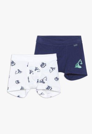2 PACK - Pants - dark blue, white