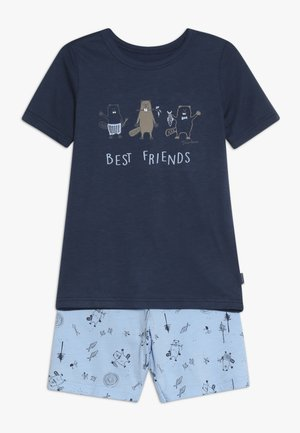 SCHLAFANZUG KURZ - Pijama - blau