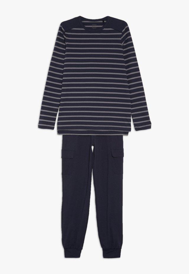 LANGER SCHLAFANZUG JUNGS SET - Pyjama set - blau