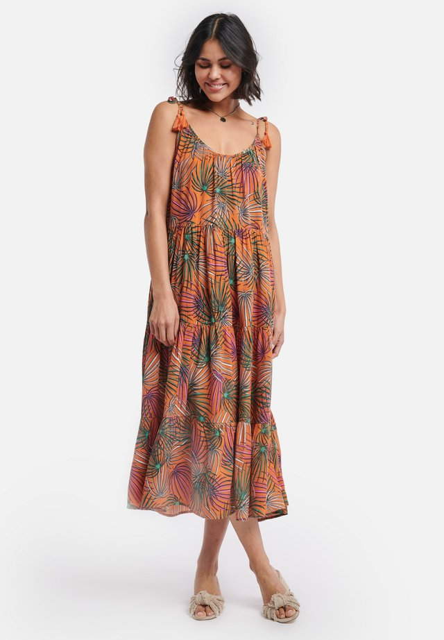 SHIWI LADIES MIDI TIGER PALM - Korte jurk - spice route
