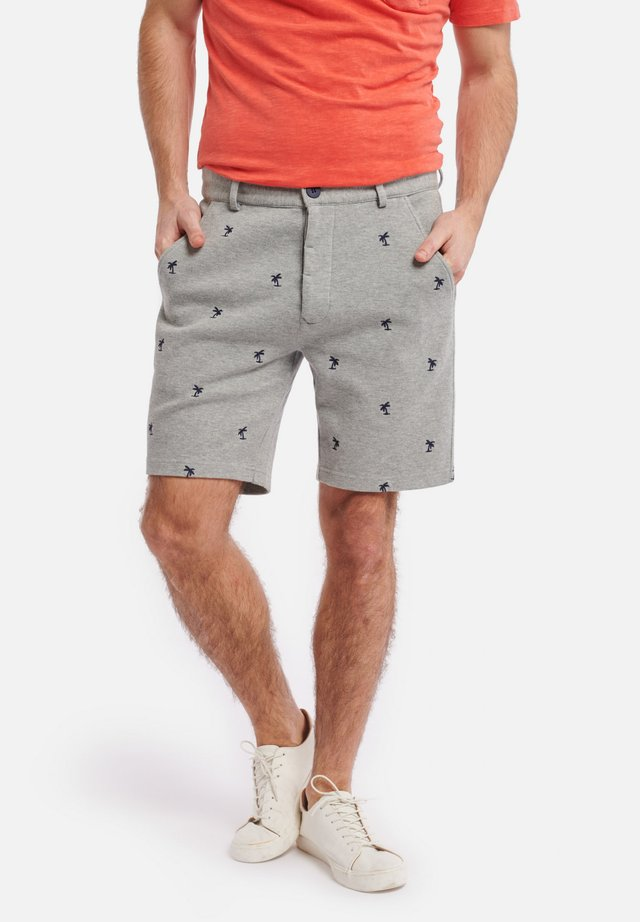 SHIWI MEN SWEAT PIQUE PALM - Shorts - grey melange