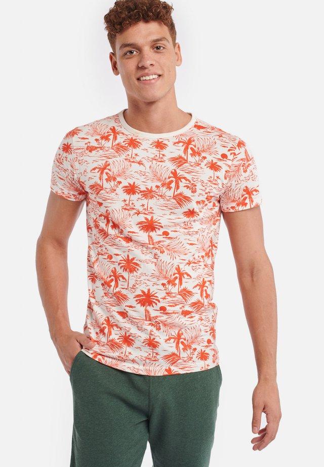 TEE KAUAI - Print T-shirt - sunset red