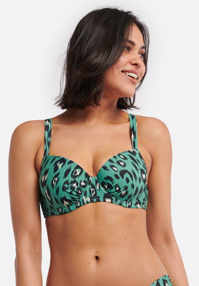 NORA B/C CUP - Bikini top - green