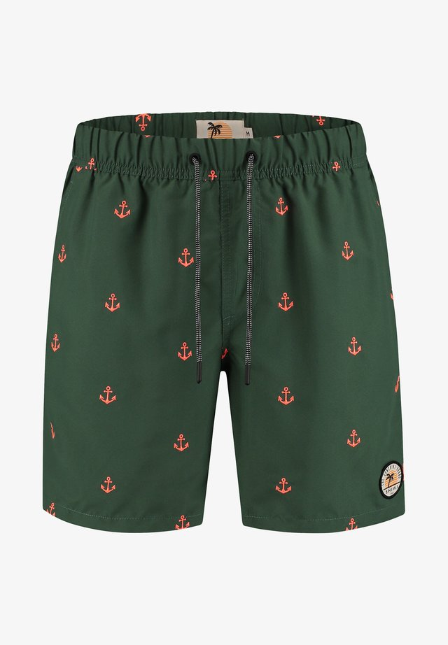 RELAX ANCHOR - Swimming shorts - green