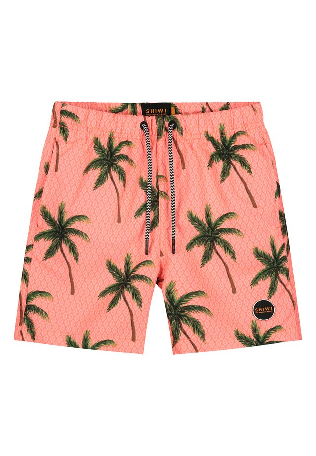 PAINTED PALMS - Swimming shorts - neon orange