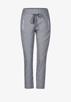 MIT STREIFEN - Trousers - blau