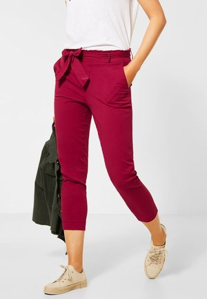 PAPERBAG-MIT HIGH WAIST - Trousers - rot
