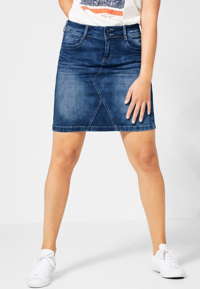 Street One - ROCK - Denim skirt - blue