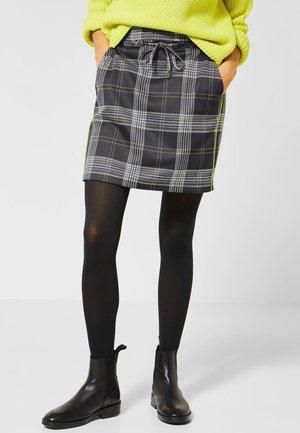 KARO-ROCK IM JOGG-STYLE - Mini skirt - mottled anthracite