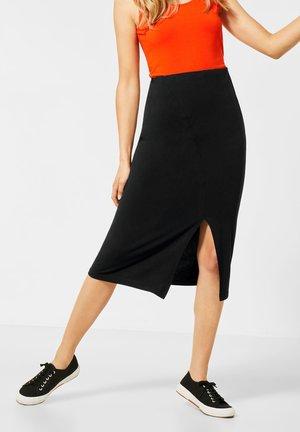 UNIFARBE - Pencil skirt - schwarz