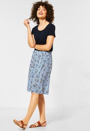 MIT BLUMENMUSTER - A-line skirt - weiß