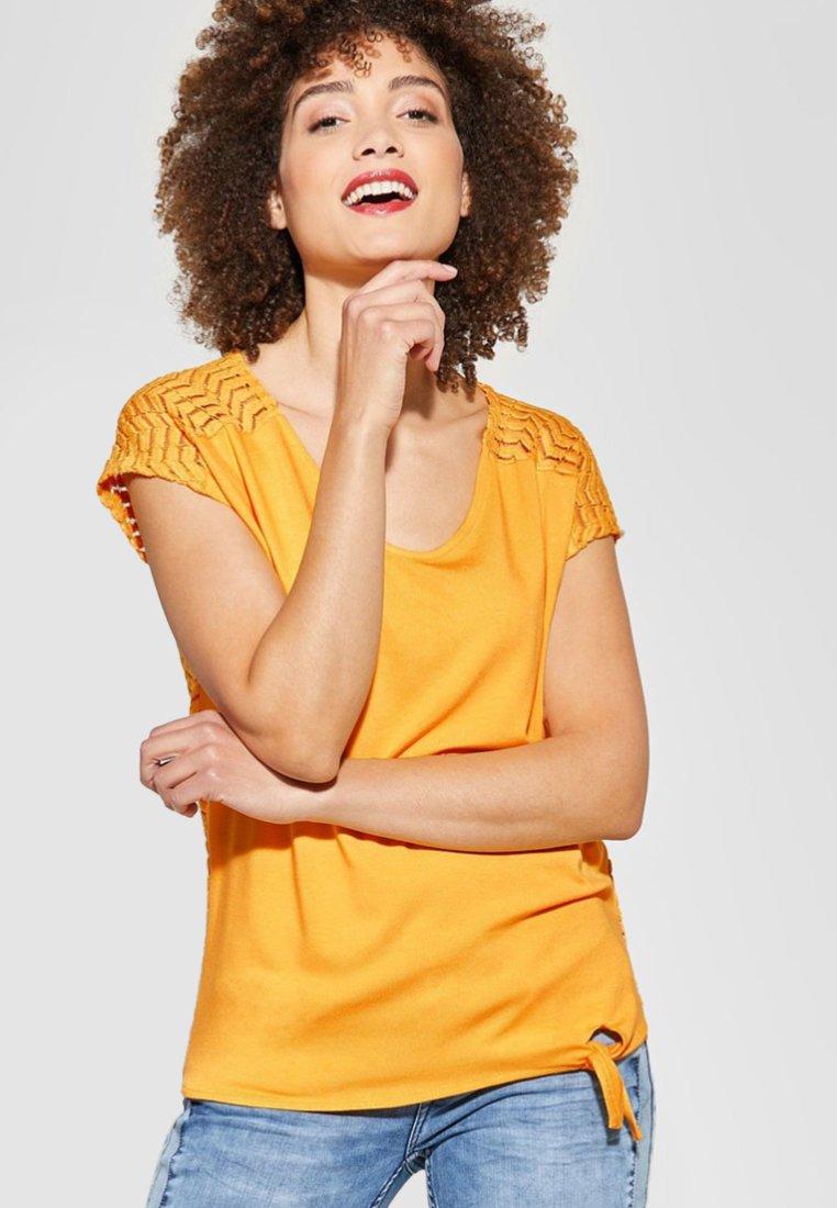 Street One - FEMKE - T-Shirt print - orange