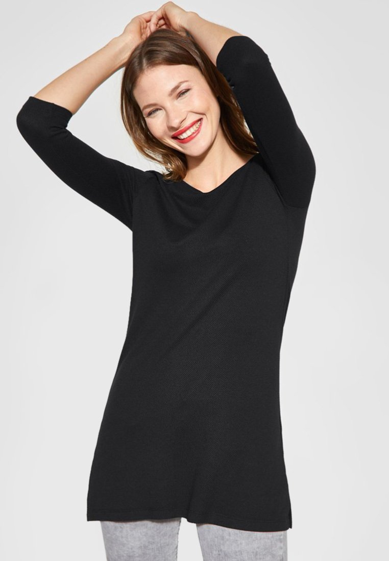Street One - Long sleeved top - black