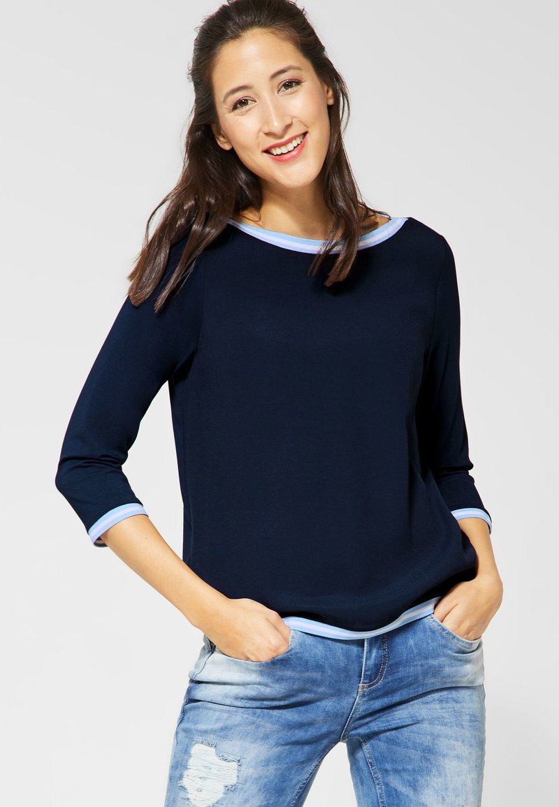 Street One - CIA - Long sleeved top - blue