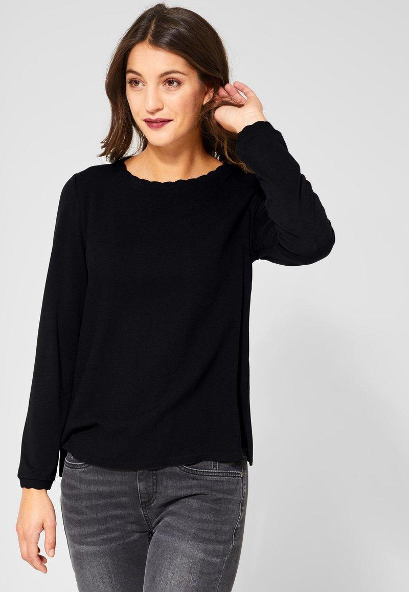 Street One - DAVIA - Long sleeved top - black