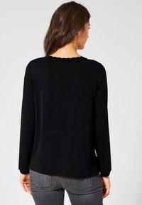 Street One - DAVIA - Long sleeved top - black - 2