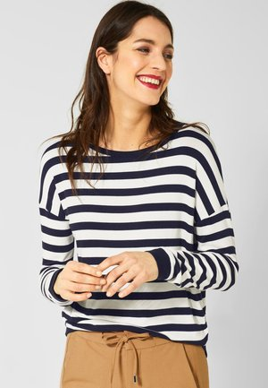 MIT STREIFEN - Long sleeved top - blue