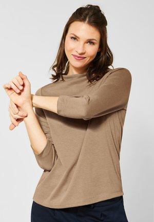 MIT ÄRMELDETAIL - Long sleeved top - brown