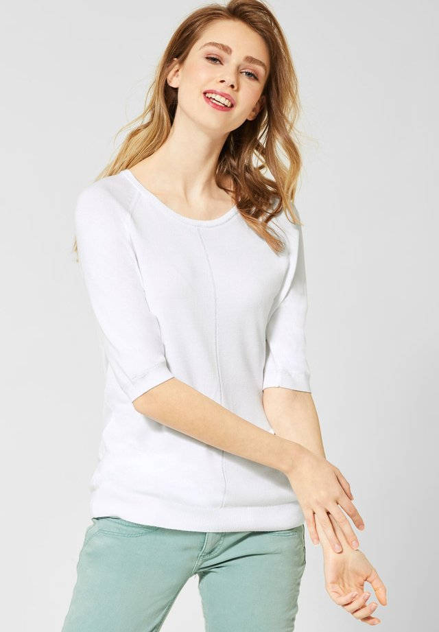 MIT GLITZER - T-shirt basic - white