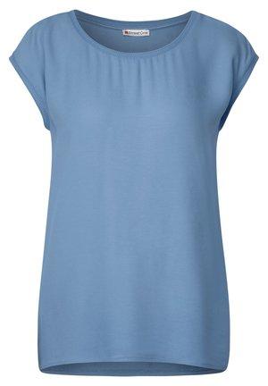 MIT UNIFARBE - Basic T-shirt - blau