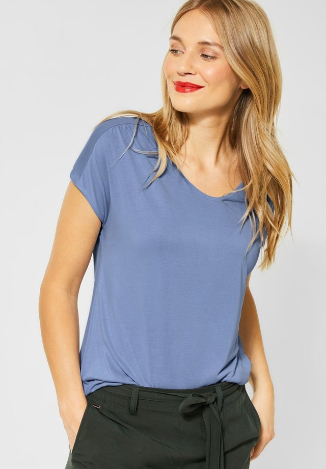 UNIFARBE - Basic T-shirt - blau