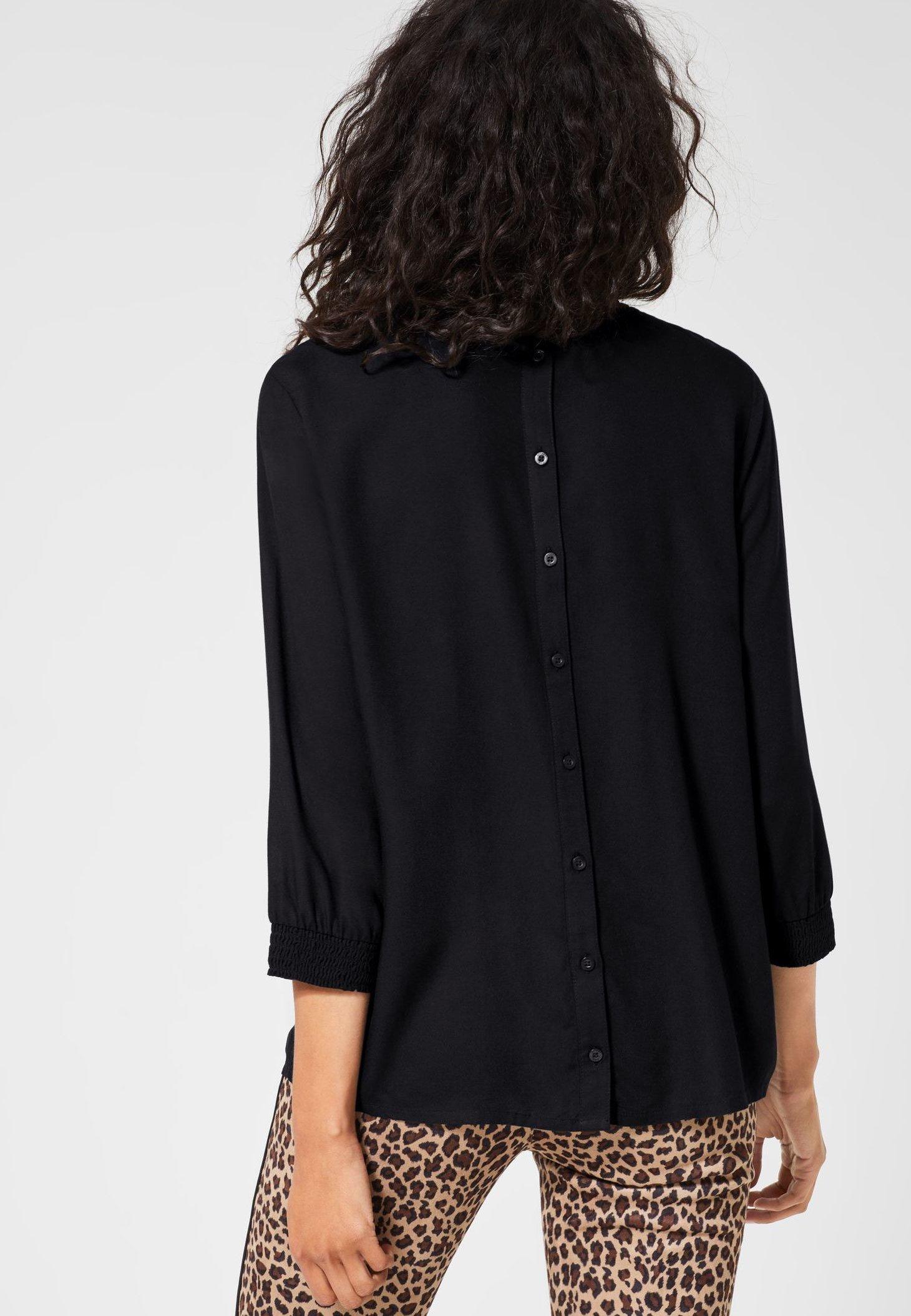 Street One GESMOKTE- Bluse black