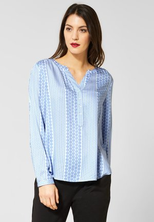 BAMIKA MIT MUSTER - Bluse - blue