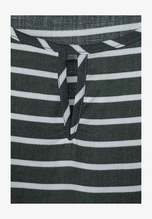 MIT STREIFEN - Blouse - dark grey/grey