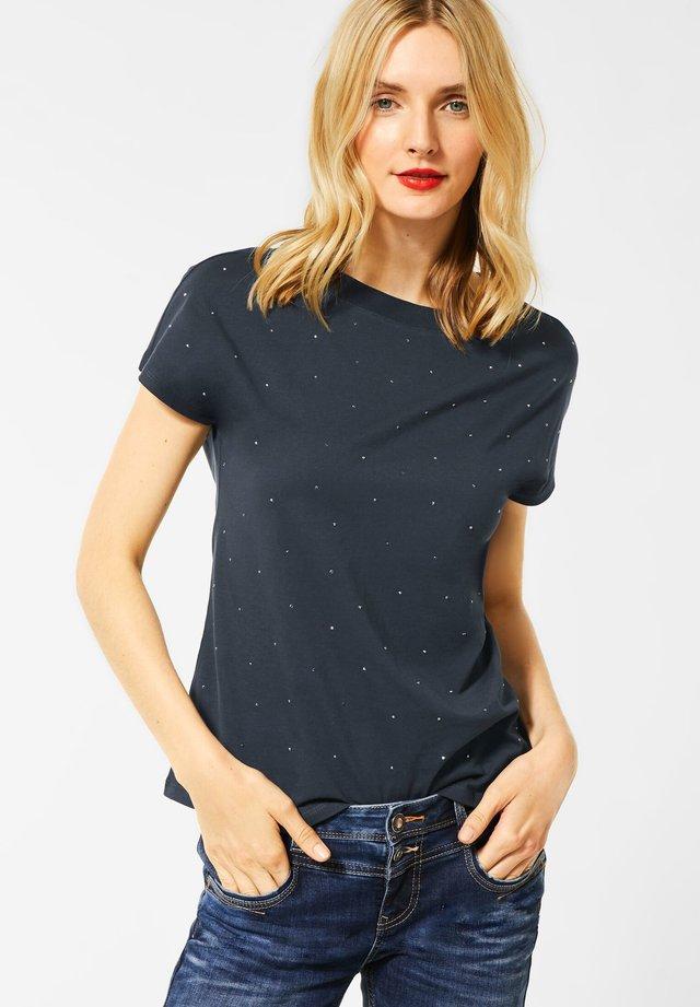 MIT STRASSSTEINEN - Basic T-shirt - grau