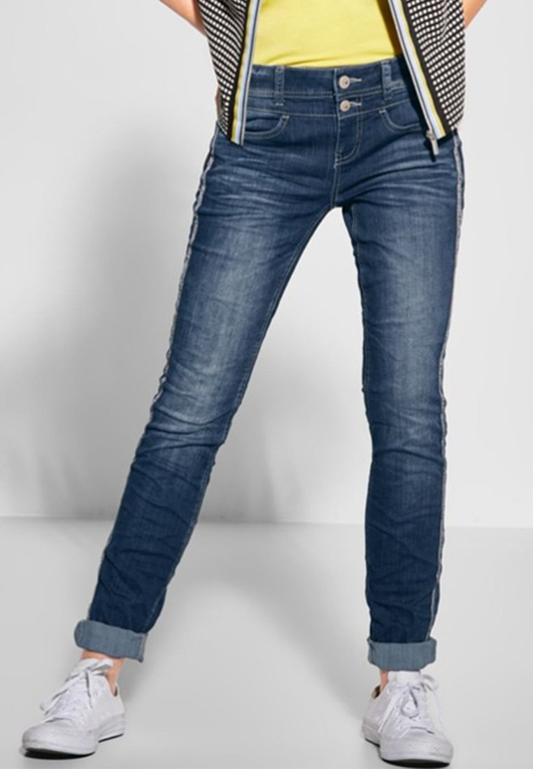 Street One - MIT GALON JANE - Slim fit jeans - blue