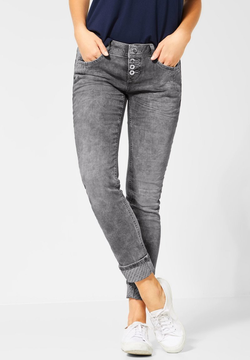 Street One - CRISSI - Slim fit jeans - grey