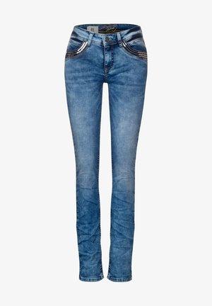 PAILLETTEN-DEKO - Slim fit jeans - blau