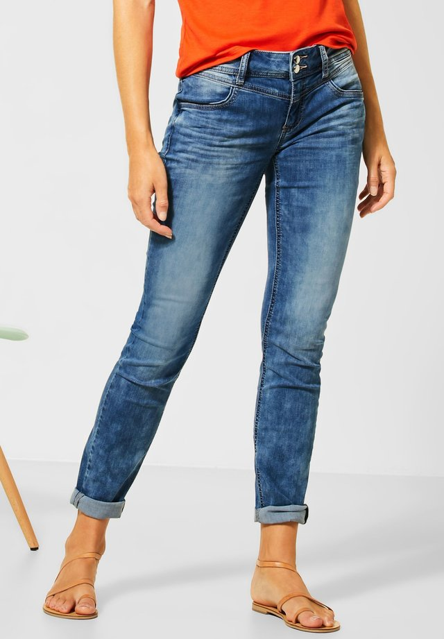 MITTELBLAUE DENIM - Slim fit jeans - blau