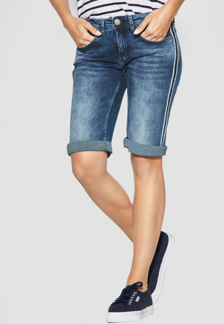 Street One - JANE - Jeans Shorts - blue