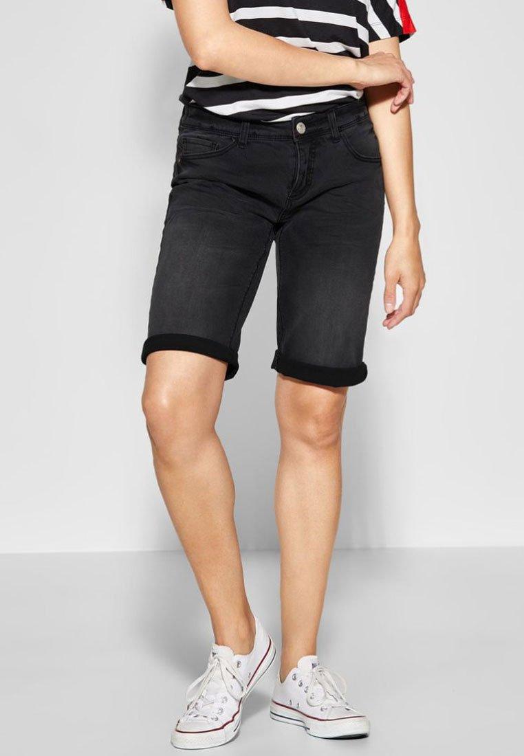 Street One - Denim shorts - black denim
