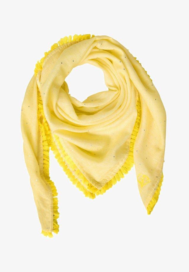 MIT FRANSENKANTE - Foulard - yellow