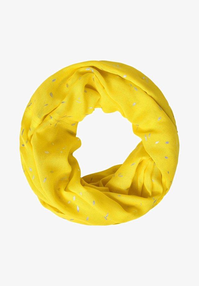 MIT FOLIENPRINT - Snood - yellow