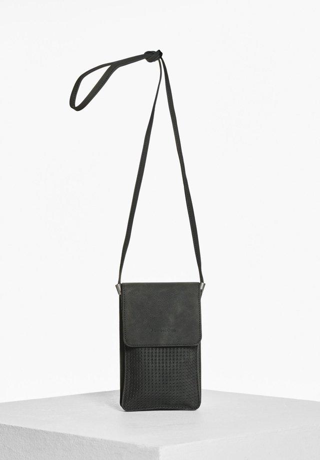 MIT TOUCH-FOLIE - Across body bag - schwarz