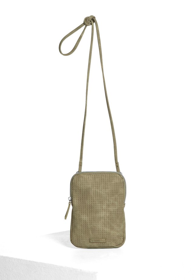 MIT STRUKTUR - Across body bag - grün