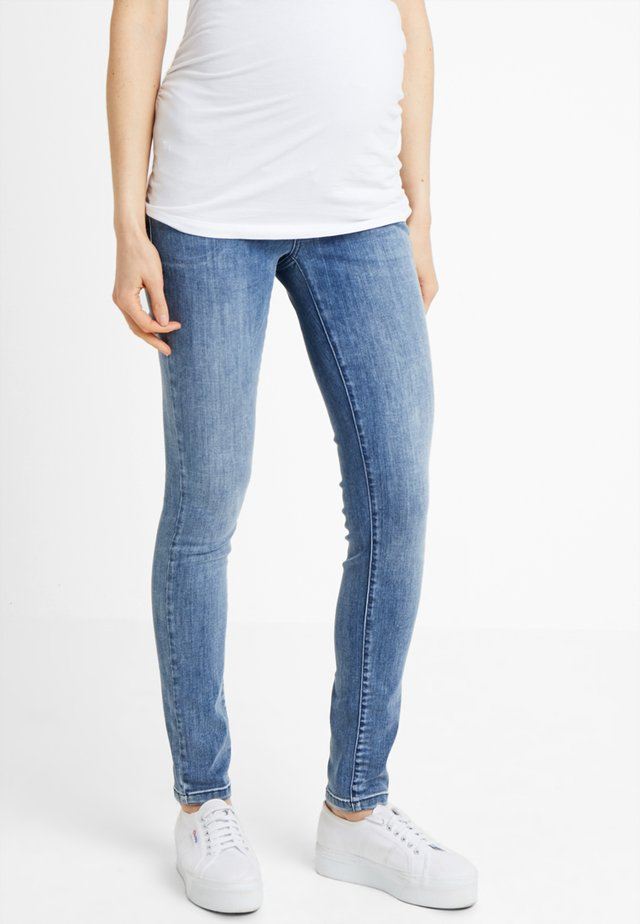 DAMAGED - Jeans Skinny Fit - blue denim