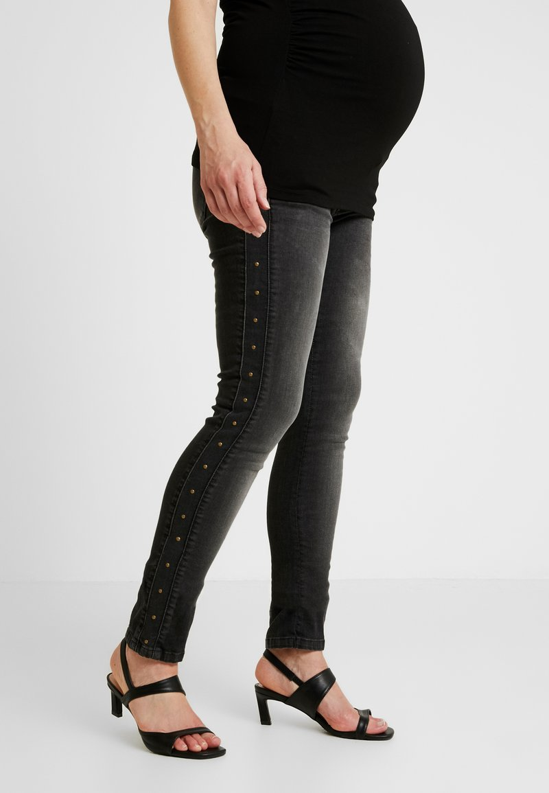 Supermom - STUDS - Jeans Skinny Fit - washed black