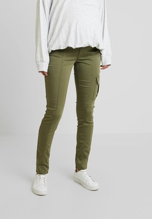 PANTS - Trousers - burnt olive