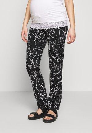 PANTS LINES - Pantaloni - black