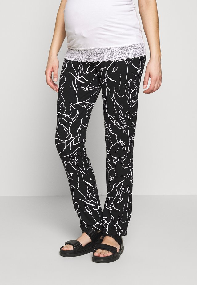 PANTS LINES - Stoffhose - black