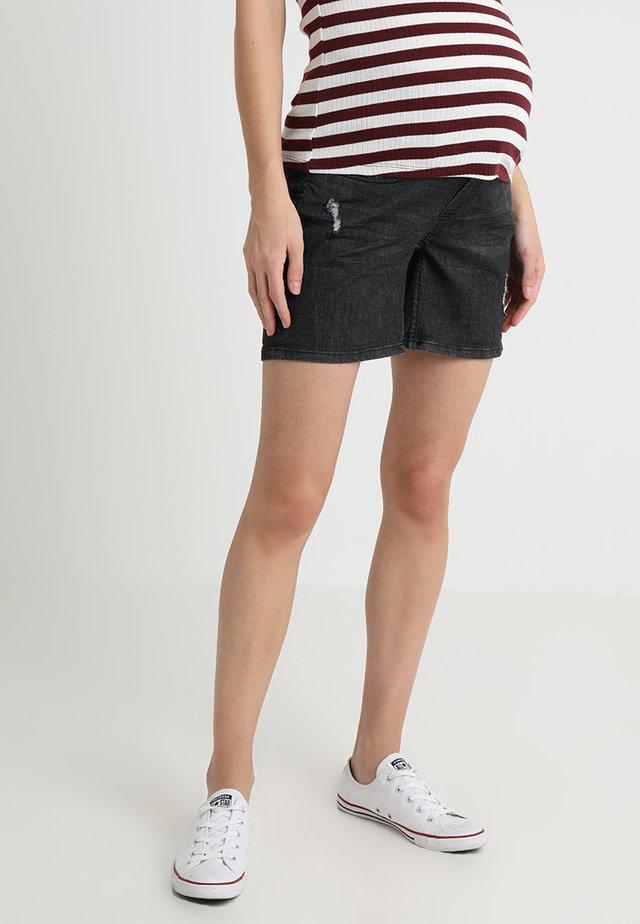 Jeans Shorts - black denim